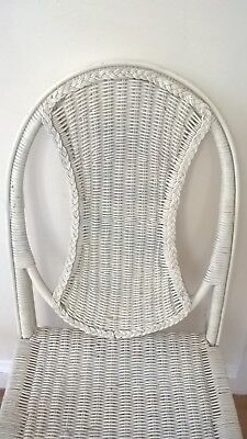 Cool vintage retro lloyd loom style white cane chair in good condition.