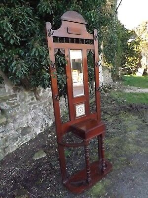 "Victorian Mahogany Hallstand. Excellent order 30""W. UK DELIVERY INCLUDED."