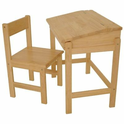 Children Kids R Us Premium Rubberwood Desk & Chair Natural