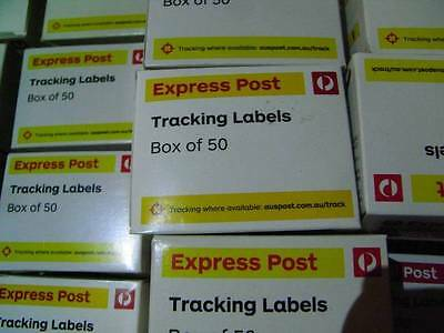 500 x AUSTRALIA POST EXPRESS TRACKING LABELS (10 Boxes)