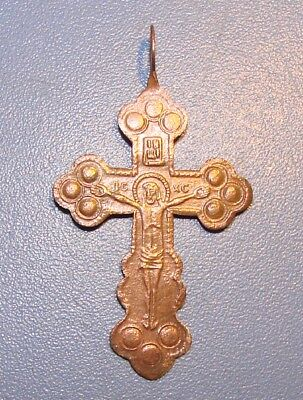 Ancient Copper Cross Middle Ages. 18th - 19th century. Оriginal.