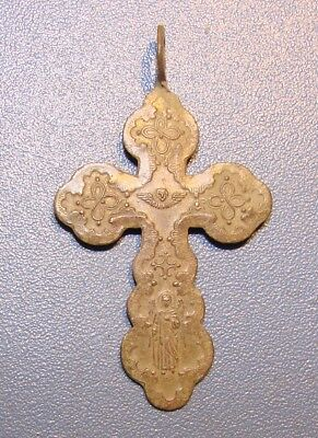 Ancient Copper Cross Middle Ages. Оriginal.