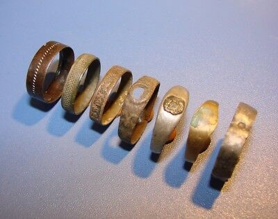 Ancient Rings. Silver. Bronze. Original.