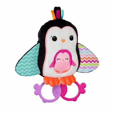 BRIGHT STARTS Peluche Cuddle & Teethe Penguins Multicolore