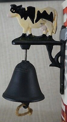 New Old Stok Cow Bell Dinner School Cast Iron Country Farm  Wall Mount .