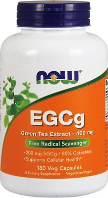 NOW EGCg Green Tea Extract 400 mg,180 Veg Capsules, New, Free Shipping