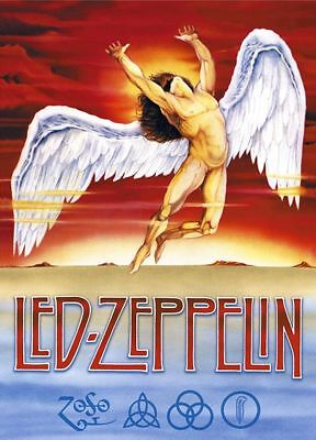Led Zeppelin Swan Song Jimmy Page Sticker or Magnet