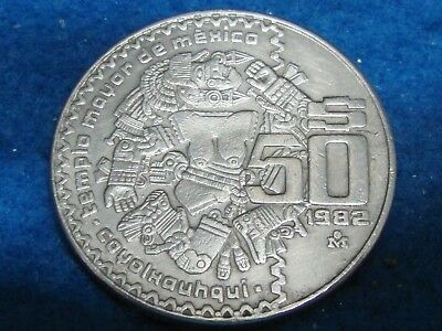 Coyolxauhqui Aztec Moon Goddess 1982... combine shipping 1 to 10 coins for $2.60