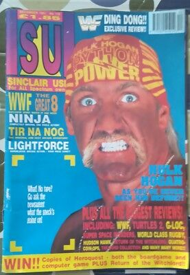 SINCLAIR USER magazine DEC 19911 NO 118 HULK HOGAN COVER REPAIRED COVER