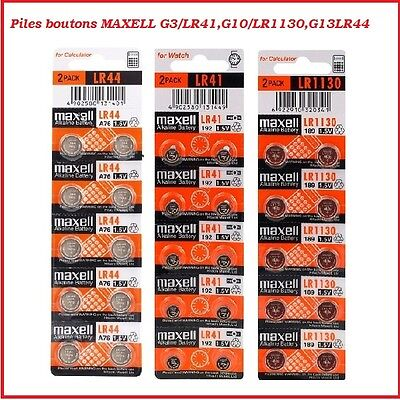 Battery Cells Button Alkaline/Lithium Maxell LR41/LR1130/LR44/CR2032 /CR2025