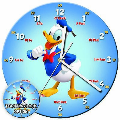 Disney Characters Teaching Wall Clock Kids Learning Gift Bedroom – 13