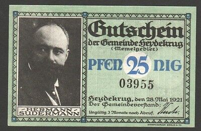 Lithuania Germany Heydekrug 25 Pfennig 1921 UNC