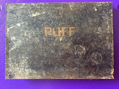 wooden name plaque 'Puff'