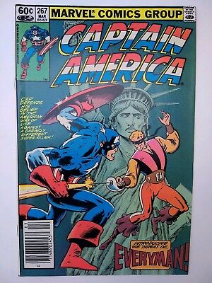 """Captain America #267 (FN+) """"The Man Who Made a Difference!"""" Marvel 1982"""