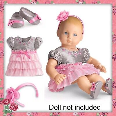 NIB American Girl Bitty Baby Twin Wings and Wreath Set with Rosette Band NEW!