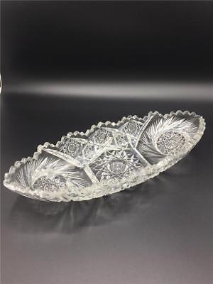 Antique Crystal Oval Dish for bread/lettuce or spoon holder.