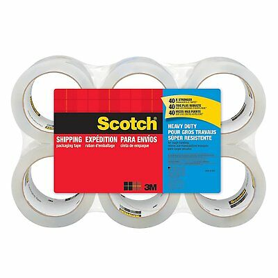 Scotch Heavy Duty Shipping Packaging Tape, 1.88 Inches x 54.6 Yards, 6Rolls