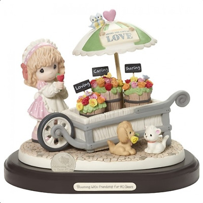 Precious Moments Blooming With Friendship Flower Cart 40th Anniversary New 2018