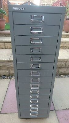 bisley 15 drawer filing cabinet