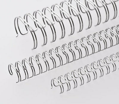 """2:1-23 A4 Metal Binding Combs - SILVER - size 7/8""""-22mm"""