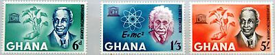 GHANA 1964 195-97 189-191 Human Rights Day Einstein Carver UNSECO MNH