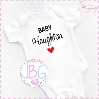 Personalised Baby Vest Unisex, Embroidered Design, New arrival Clothes, Bodysuit