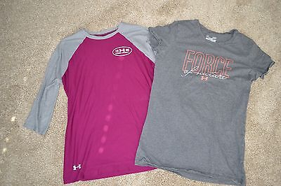 Under Armour women's LOT OF 2 t-shirts gray Size S GUC