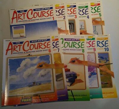 job lot 10x Magazines Step-By-Step Art Course Drawing Painting Made Easy 1-10