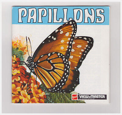 View Master   Gaf   Papillons   D 117-F   In Francese  A Libretto