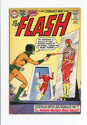 The FLASH #119 - VG/FN - COMPLETE OLD 10 CENT ISSUE 1961 SCARCE - KID FLASH TOO