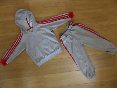 Boy's Adidas Tracksuit. Age 4 - 5 Years.