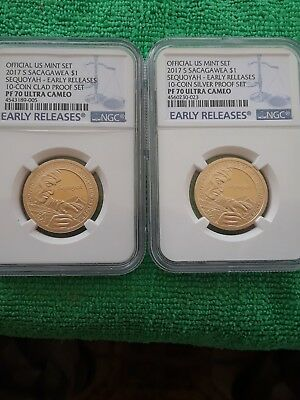 Hard Find, Early Releases 2017 S Sacagawea Clad & Silver  Proof Set Ngc Pf70Uc