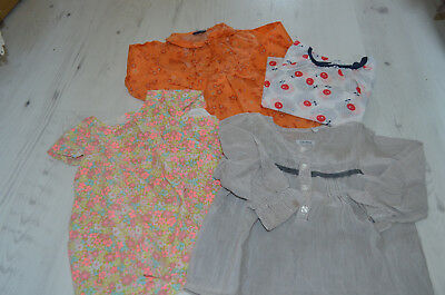 lot 4 blouses 18 mois fille IKKS - DPAM - SERGENT MAJOR - OBAIBI