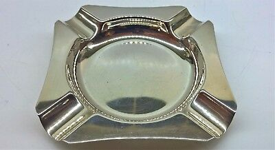 Vintage Solid Silver Ashtray Hallmarked Birmingham 1959, by Harman Brothers