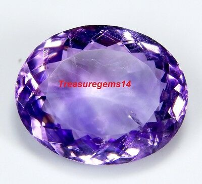 11 Ct Ring Size Natural  Purple Amethyst Oval Cut  Faceted Cabochon Gemstone A40