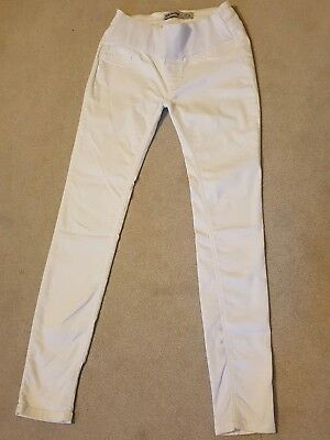 New Look White Underbump Maternity Skinny Stretchy Jeans Jeggings Size 8