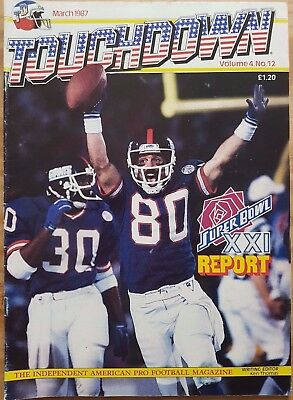 NFL Touchdown Magazine - March 1987 - Volume 4 No.12