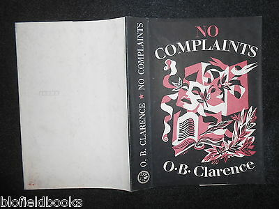 ORIGINAL VINTAGE Tisdall DUSTJACKET (ONLY) for No Complaints by O B Clarence