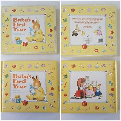 New Babys first year 24 page, (12 double page) cute, rabbit record book