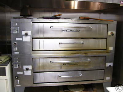 Bakers Pride Y600 Double Deck Pizza Oven w Stones- Gas