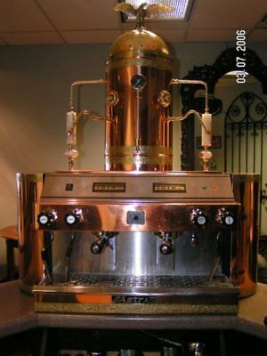 Astra Mega II Espresso Machine Solid Copper Finish