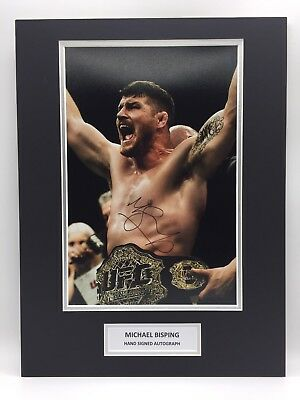 RARE Michael Bisping UFC Signed Photo Display + COA AUTOGRAPH MMA BOXING