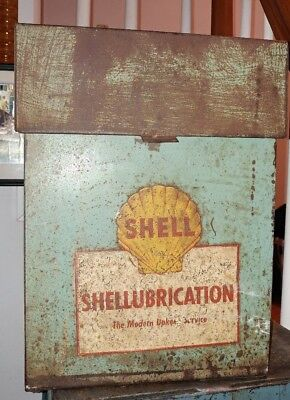 Vintage Antique Shell Oil Shellubrication Service Station Records Box
