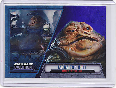 2016 Topps Star Wars Evolution Purple Parallel Jabba The Hutt Tatooine Crime #83