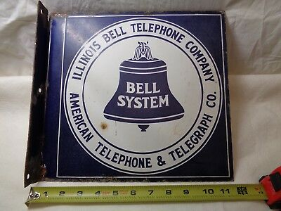Old Telephone 1921 Bell Sign