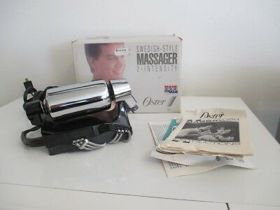 OSTER Swedish Style 138-11 Chrome Handheld 2 Speed Body Massager Clean USA NICE!