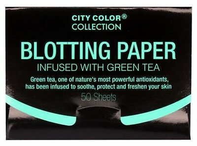 City Color Collection Blotting Paper Infused with Green Tea 50 Sheets Brand New