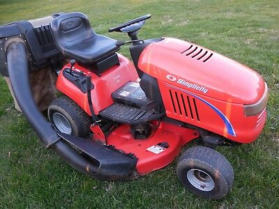 SIMPLICITY REGENT LAWN Tractor 18HP 38 inch Deck Rear Bagger Just Serviced