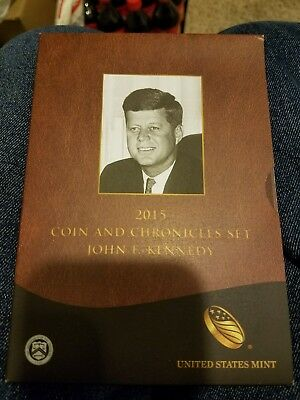 2015 John F. Kennedy Coin & Chronicles Complete set (Gov't packaging - OGP)