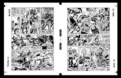 Dave Cockrum X-men #95 Pg 10 And Pg 11 Rare Large Production Art